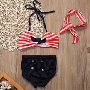 Other - Baby Girl Halter Top Two-piece Swim Bathing Suit